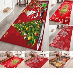 Fashion Xmas Soft Home Bathroom Bedroom Rectangle Christmas Bath Mat Floor Rug Carpet With Non Slip