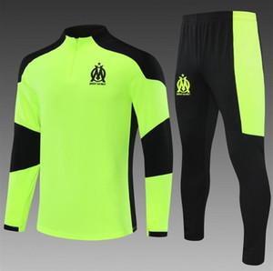2020-21 Temporada Marsella Hombres Casual Sports Traje de Fútbol Traje de Fútbol Traje Niños Chándal de Fútbol Survetement Chandal Jogging