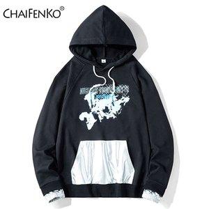 Chaifenko Sudaderas Capucha Otoo Hombre، Nueva Con Patrn Moda Primavera، Sudadera Harajuku de Hip Hop Para