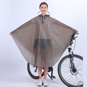 High quality Mens Womens Cycling Bicycle Bike Raincoat Rain Cape Poncho Hooded Windproof Rain Coat Mobility Scooter Cover W1223