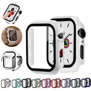 Glas + Hülle für Apple Watch Serie 6 5 4 3 SE 44mm 40mm iwatch Case 42mm 38mm Stoßstange Screen Protector + Cover Apple Watch Accessorie