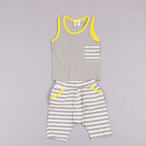 Clearance sale Baby Tank Tops Summer Stripe Shorts Sports Activewear Children Set Kids Suit Outfits Fashion Two-Piece boys suits Z145