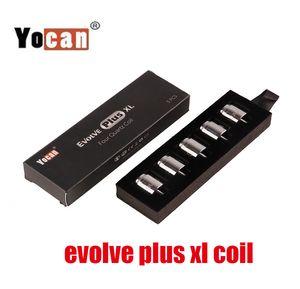 Autêntico Yocan Evolve Plus XL Wax Quatz Coil Quatz Rod Bobinas de Substituição Cabeça com tampa de bobina para Evolve Plus XL Pen Kit 100% Genuine