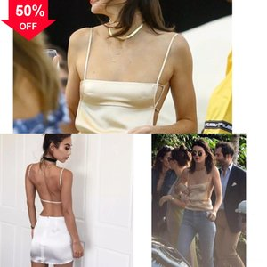 summer single-breasted suspender sexy backless for woman for sex elastic pocket skirt big swing type dress dress waist Sexy solid color skir