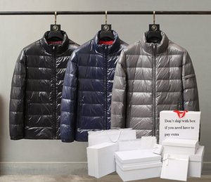 Parkas Mens Down Jackets Classic Outerwear Men Puffer Coats Pocket 2020 Winter Jackets Letter Pattern Mens Clothing