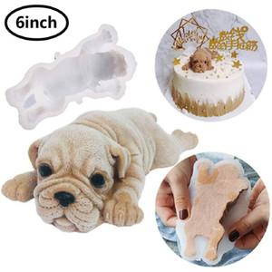 Molde de silicone para cão Mousse bonito Bolo 3D Shar Mold Pei Sorvete Jelly Pudding Blast Cooler Fondant Ferramenta Decoração CCD3488