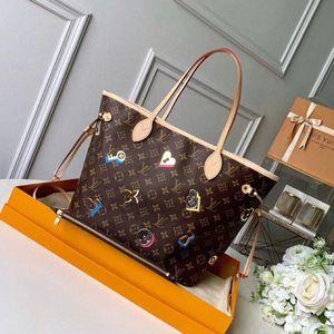 2021 Best fashion Old Cobblerneverfullneverfull Upgraded version Coated canvas singl shoulder bag Mother bag 7804#