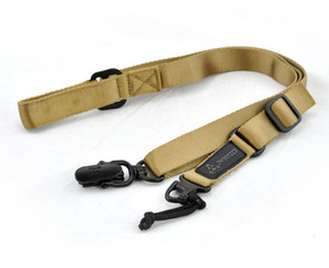 Outdoor Tactical Two Point Adjustable soft Rifle Gun Sling shoulder Strap with metal buckles Task Rope Nylon 2 N98PL