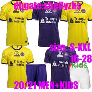Erkekler + Çocuklar FC Toulouse Futbol Formaları 20 21 Eve 3020 2021 Sangare 17 Diakite 19 KONE 34 Gradel 7 Said 25 Sylla 12 Jersey Futbol Gömlek