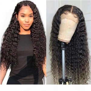 100% Brazilian Human Hair 360 Lace Frontal Wigs With Baby Hair Deep Wave Glueless Pre Plucked Lace Front Wig For Black Women