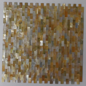 Natural color 10mm x 20mm Brick Pattern Yellowlip tile Mother Of Pearl shell mosaic #MS128
