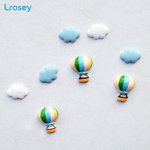 Cute Decorative Stickers Cloud Plane Balloon Love Kitchen Fridge Magnets Resin Fairy Garden Family Children's Room Decorations jllYsX
