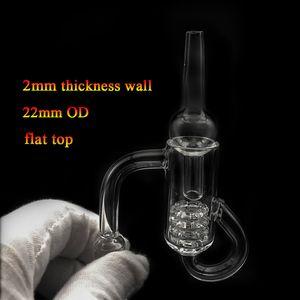 Quartz Diamond Loop Banger Nail Oil Knot Recycler with Quartz Carb Cap Dabber Insert Bowl 10mm 14mm 18mm Male Female for Glass Bong