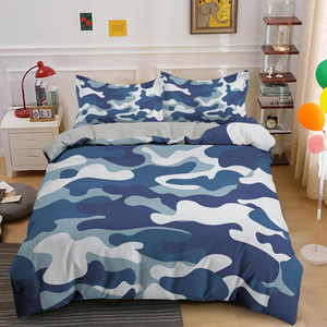 Camouflage Biancheria da letto Set Cool Boy Girl Kid Adulto Duver Cover Set King Queen Twin Comforter Covers con federa Tessile per la casa