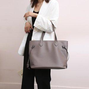 Hot-selling new women's bags Korean fashion women's soft leather diagonal bag retro elegant and generous bucket handbag