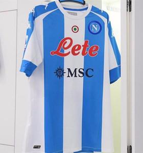 20 21 Maradona Napoli commémorant le maillot de cocteur 2020 2021 Naples Koulibaly Camiseta de Fútbol Insigne Milik Mertens troisième chemise de football