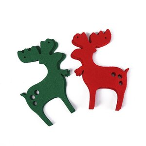 felt DIY bunting banners tree socks deer merry christmas market mall home decoration DHD2881