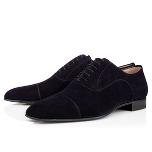 Fashion men loafers dress shoes triple black red Matte patent leather spike sneakers for business wedding flat bottoms