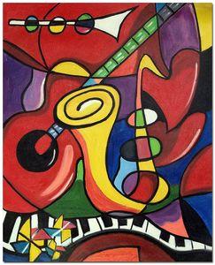 Strumenti musicali Pablo Picasso Grande Home Decor Artigianato / HD Stampa Pittura ad olio su tela Wall Art Canvas Immagini, F201205