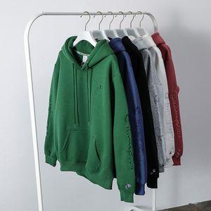 Fashion men women pullover sweatshirts high spring winter hoodies champions letter printed hoodies camouflage pullover sweatshirt