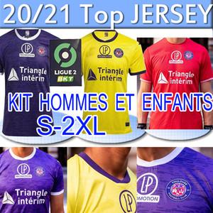 Toulouse FC Soccer Jersey 2020 2021 Mailleot De Foot Home Away Rhys Healy Anriste Adli Bayo Spierings الرجال أطقم أطفال كرة القدم قمصان الزي الرسمي