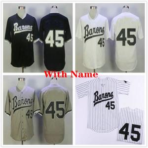 마이클 # 45 버밍엄 Barons 야구 유니폼 망 블랙 화이트 그레이 스티치 영화 Michael Birmingham Barons 레트로 야구 셔츠 유니폼