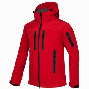 new Men HELLY Jacket Winter Hooded Softshell for Windproof and Waterproof Soft Coat Shell Jacket HANSEN Jackets Coats red