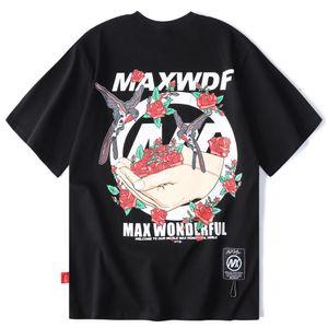 2021 New Hombres África Eden Harajuku Impreso Camiseta Moda Hip-Hop Famosa Calle Ropa de manga corta Floja 932M