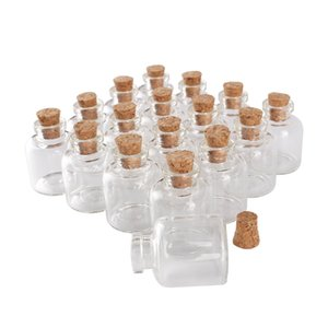 wholesale 100 pieces 4ml 22*28mm Glass Bottles with Cork Stopper Mini Glass Jars Glass Vials for DIY Crafts Gift
