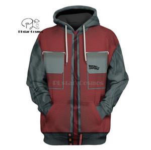 PLstar Cosmos Retour vers le futur Marty 3d hoodies / Sweat-shirt automne hiver drôle streetwear C1116 manches longues Harajuku