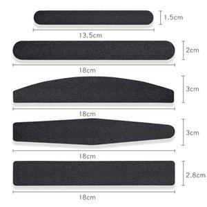Fichier à ongles de papier de sable de remplacement noir de 10 pcs avec poignée en acier inoxydable tampon à clous en métal double face 100/180