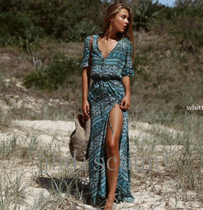 Summer 2020 Fashion New Printed Dresses New Bohemian Prints Are Selling Well For Women &#039 ;S Wear Dress Beach C