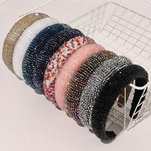 Lüks Renkli Bejeweled yastıklı Bantlar Moda lüks Rhinestones Sünger hairbands Kadınlar Pırıltılı Yenilik Bantlar