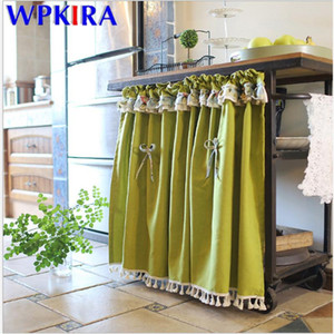 Delicate Tassels Short Curtain Semi-Blackout For Kitchen Half Sheer Curtain Bar Coffee Cabinet Door American Style DL-AD605