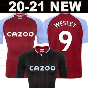 20 21 Jerseys de football 2020 2021 Accueil Wesley Grealish Kodja El Ghazi Chester McGinn Target Hommes + Kids Kit Ensemble Chemises de football