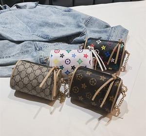 Детские сумки печати дизайнер мини-кошельки сумки на ремне Baby подросток дети девушки PU посланник золотые цепные сумки рождественские подарок