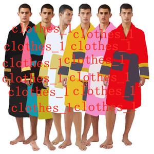 Mens Black sleepwear gowns bathrobes unisex 100% cotton night robe good quality robe luxury robe breathable elegant women clothing 1739