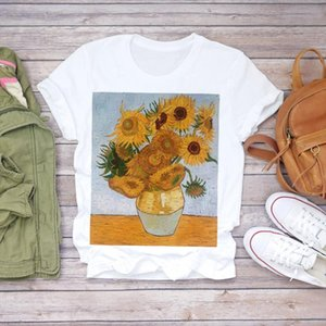 Women 2020 Summer Short Sleeve Floral Flower Fashion Lady T shirts Top T Shirt Ladies Womens Graphic Female Tee Shirt