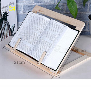 Wood Book stand Holder Adjustable Portable wooden Bookstands Laptop Tablet Study Cook Recipe Books Stands Desk Drawer Organizers CYF4581