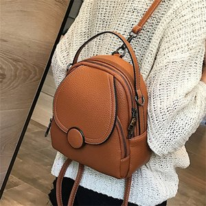 New Designer Fashion Women Leather Mini Soft Touch Multi-Function Small Backpack Female Ladies Shoulder Bag Girl Purse 201128