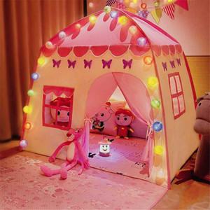 Playhouse Çocuklar Çadır Çocuk Kapalı Açık Prenses Kalesi Katlanır Cubby Oyuncaklar Enfant Oda Evi Çocuk Çadır Teepee