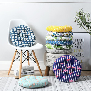 Assento macio Cushion Pad Thicken Round Square Escritório Classroom Chair Assento Almofadas cores Impresso Sofa Pillow Nádegas Chair Cushion OWF3072