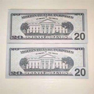 Vente chaude 20 Dollar Bill Props Simulation Dollar Bill Props Money Film Props Barre Atmosphère Money Fake Paper Money Jouets 0032