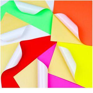 100sheets A4 colorido adesivo em branco adesivo auto adesivo A4 papel kraft para laser jato de tinta impressora etiqueta 11 SE BBYHOU