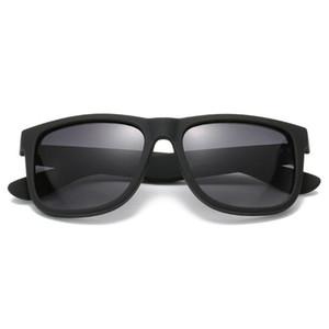 Мода Джастин Солнцезащитные очки Квадратные Мужчины Женщины Дизайнер Водитель Очки Лунет УВ400 Градиент Бренд Солнцезащитные Очки с случаями