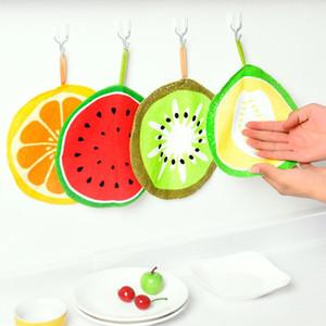 جميل الفاكهة طباعة شنقا مطبخ ناحية منشفة ستوكات المناشف سريعة الجافة تنظيف خرقة صحن القماش مسح منديل AHC4030
