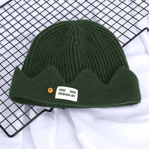 2020 Fashion Unisex Spring Hats For Men Women Knitted Wool Hat Man Knit Bonnet Polo Beanie Gorros Touca Thicken Warm#171
