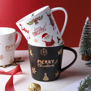 2020 New Christmas Coffee Mugs 500ml Large Capacity Creative Christmas Gift Ceramic Milk Cup Drinking Water Bottle