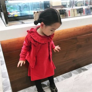 top quality kids clothing sets kids clothes girls jacket coat sweatshirt sweaters dress skirt 2pcs setsFT8M
