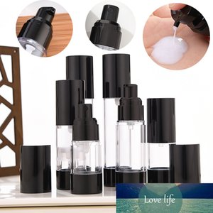 1 unit Portable 15ml 30ml 50ml Empty Airless Bottle Cosmetic Bottles Treatment Pump Spray Travel Sample Container Black Cap Lid